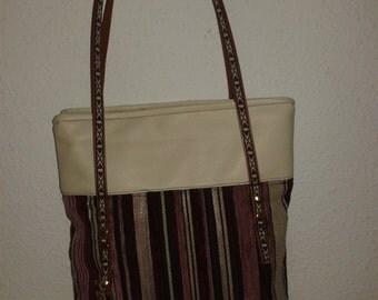 Handmade oval, Tote, bag
