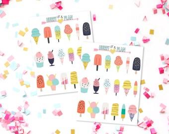 Ice cream and Popcicle stickers