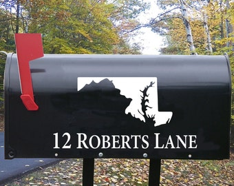 State of Maryland Mailbox Decal