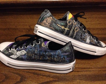 Harry Potter inspired converse shoes
