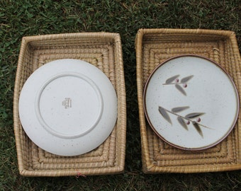Otagiri Bittersweet Dinner Plate Set of Nine Vintage 1970s Japanese Stoneware