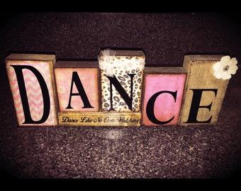 Dance Gift for Dance Friend, Dance Teacher, Dancer Block Set Personalized Dance Gift for Daughter