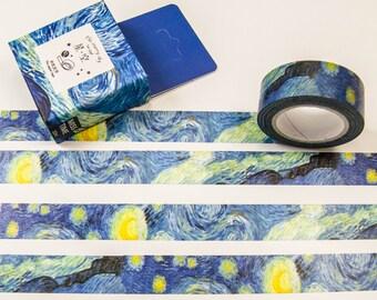 Washi masking tape - night / Filoxafing DIY scrapbooking decorative ribbon tape
