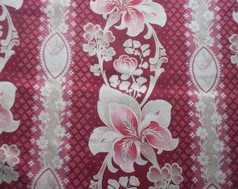 Vintage~Antique Panel of Art Nouveau French Fabric beautiful florals~Patchwork~cushions~crafts