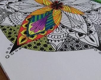 Zen mandala flower