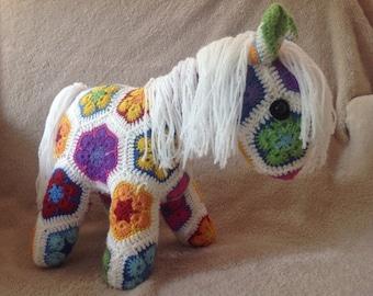 Fatty Lumpkin Crocheted Pony