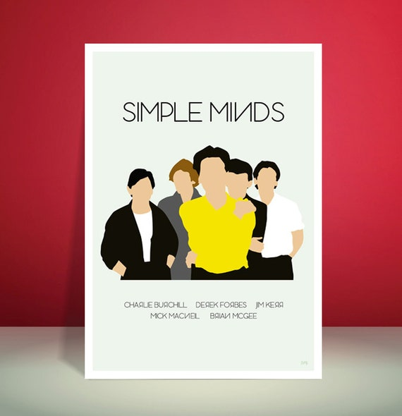 Simple Minds // Empires & Dance Inspired Minimalist Group Poster // Unique A4 / A3 Art Print