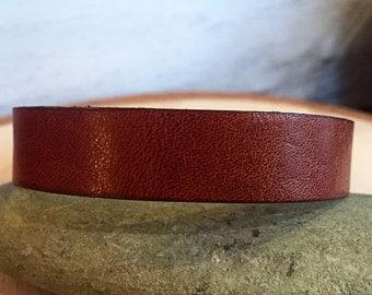 Cognac Leather Bracelet - Horween Leather, Chromexcel