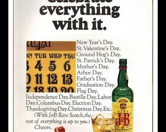 "Vintage Print Ad October 1969 : J & B Justerini and Brooks Scotch Whisky Wall Art Decor 8.5"" x 11"" Advertisement"