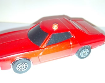 Vintage Corgi Juniors Diecast Car : Ford Gran Torino Red Police Car 1980's Made In Great Britain