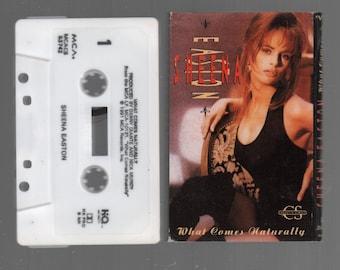 Vintage Cassette Tape : Cassette Single - Sheena Easton - What Comes Naturally / (Album Version) MCACS-53742