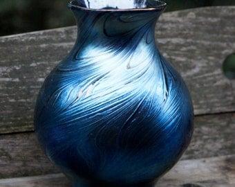 Large Blue Luminance Vase