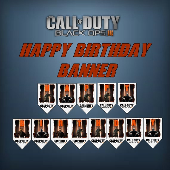 Call Of Duty Black OPs 3 Birthday Banner By