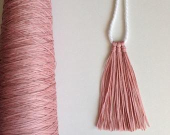 Tassel Necklace - Dusty Pink