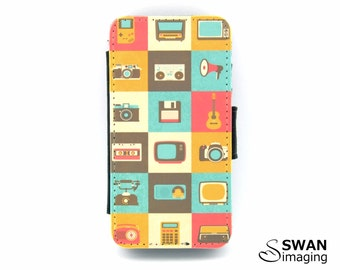 Retro Gadgets Design iPhone Wallet Case ~ iPhone 4 - iPhone 4S - Retro Gadgets #1