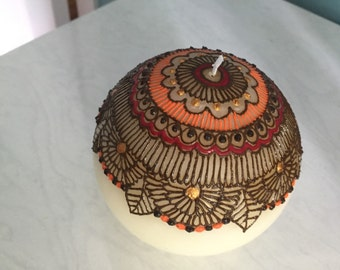 Henna candle, henna ball candle, round candle, henna candles, henna candles, decorative candle, henna decor, home decor, housewarming gift