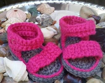 Crochet strap sandals