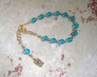 Hera Prayer Bead Bracelet (Adjustable): Greek Goddess of the Sky and Heavens, Marriage and Fidelity, and Queen of Olympus