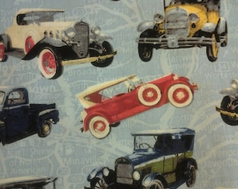 Fast Shipping Vintage cars scrub top  xs to xl with  4 different neck design made to order 100% Cotton