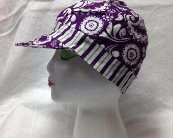Purple stripe hat