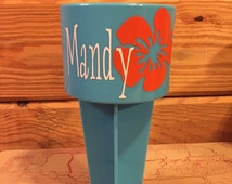 Beach Cup Holder | Spiker Cup Holder | Cup Holder| Drink Holder | Beach Spike | Beach Drink Holder | Flower | Flower Cup Holder | Hibiscus