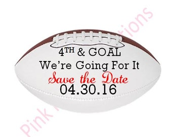 Save the Date Football, Save the Date, Wedding Football