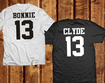 unique bonnie clyde tee related items etsy. Black Bedroom Furniture Sets. Home Design Ideas