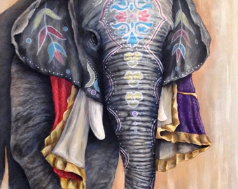 24 in. x 36 in. acrylic on canvas - Painted Elephant