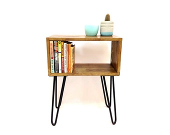 Hairpin Legs Table, Mid Century Modern Tables, Mid century Bedside Table, Scandinavian Table, Retro Nightstand, End Table