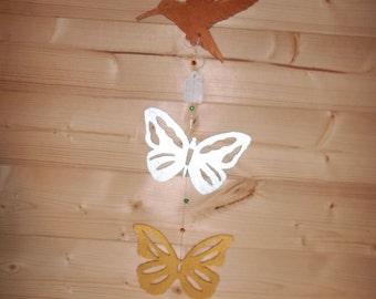Hummingbird & Butterfly Window Hanging | Wall Art | Ornament | Door Hanging