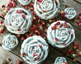 NEW Gray Rose Bath Bombs