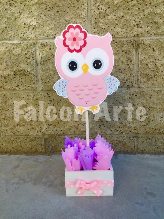Items Similar To Owl Baby Shower Centerpiece For Guest Table Owl  Centerpiece Owl Baby Shower Decoration Its A Girl Owl Owl 1st Birthday  Centerpiece On Etsy