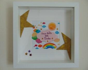 Personalised Childrens Keepsake Star Box Frame
