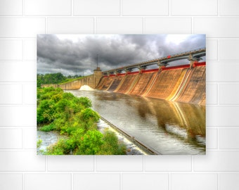 Hoover Dam - Photo Print - Scenic Photography - Landscape Print - Storm Art Photo - Waterfall Photo - Weather Photo - Nature Photography