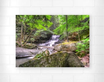 Waterfall Decor - Photo Print - Scenic Wall Art - Landscape Wall Decor - Forest Wall Art - Nature Decor - Woodland Wall Art - Ohio Parks Art