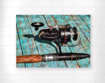 Fishing Gifts - Father's Day Gifts - Photo Print - Gifts for Dad - Photography - Wall Art - Home Decor - Gifts for Men - Vintage Photography