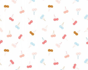 Cherry Print Cotton Fabric, Quilting and Patchwork Fabric, 100% Cotton - Fat Quarter