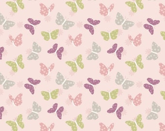 Butterfly Print Cotton Quilting and Patchwork Fabric, 100% Cotton - Fat Quarter