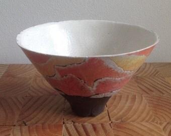 Ceramic art, ceramic sculpture, contemporary art,  home decor, ,handmade raku bowl.