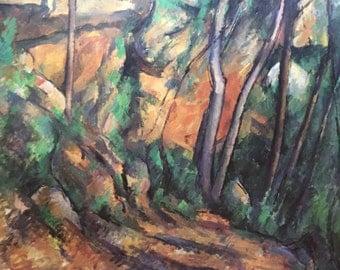 Poster for the exhibition L'Oeuvre Ultime De Cézanne à Dubuffet