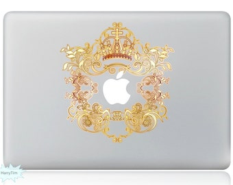 The Crown Decal Mac Stickers Macbook Decals Macbook Stickers Apple Decal Mac Decal Stickers Laptop Decal
