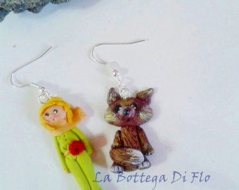 Earrings inspired by the little Prince