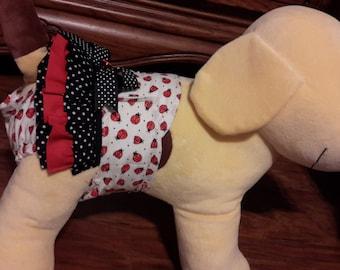 Female Dog Panties Diapers Skirt Polka Dot Ladybug Sanitary