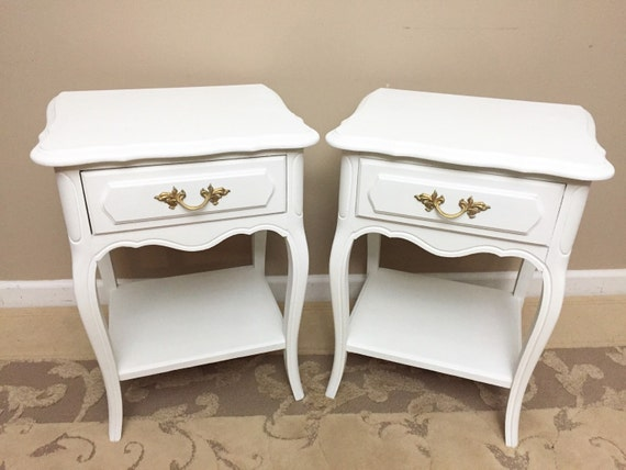 Items similar to sold french provincial nightstands for French nightstand bedside table