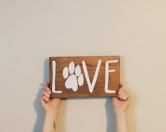 HOME wooden sign - LOVE wooden sign