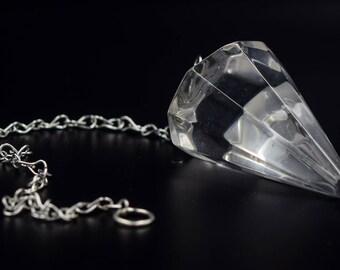 Veritable Quartz Crystal Pendulum,  pendulum, crystal quartz from brazil, ask your pendulum, ideas for gift, divination pendulum