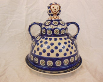 Boleslawiec - Old Polish Cheese Lady - Polish Pottery