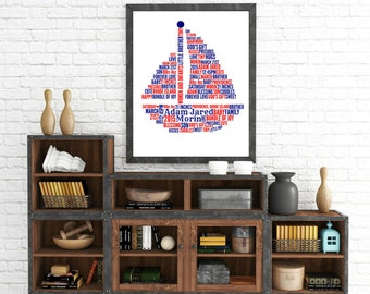 """Personalized """"Sailboat"""" Wall Art"""