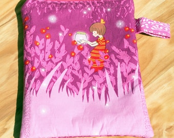 Pink Catching Fireflies/ Lightning Bugs iPad Mini, Kindle 3/Nook Color / Kindle Fire / Tablet/eReader Sleeve Case Bag Zipper case with strap
