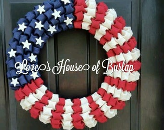 4th of July wreath, American Flag wreath, Fourth of July Wreath, Patriotic Wreath, Military wreath, Navy wreath, Army wreath,